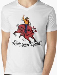 Ride your Heart! Mens V-Neck T-Shirt