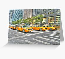 New York Yellow Cabs Greeting Card