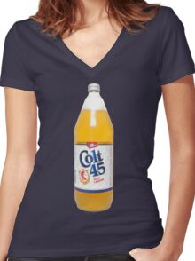 Colt 45 40oz Women's Fitted V-Neck T-Shirt