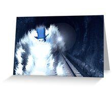 Midnight Train Greeting Card