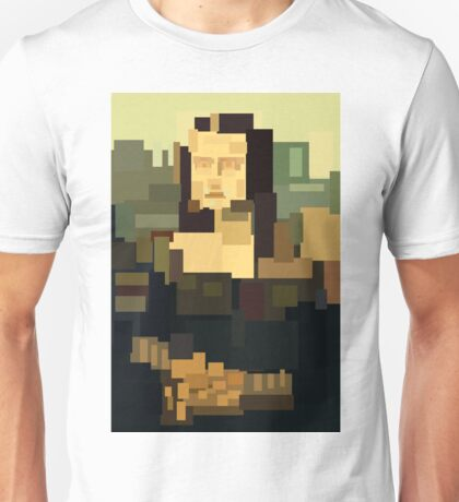 Mona Lisa (Gioconda) simplified  Unisex T-Shirt