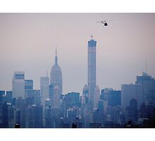 Copter over New York City  Photographic Print