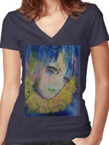 Indigo Women's Fitted V-Neck T-Shirt