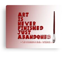 Art Is Never Finished Canvas Print