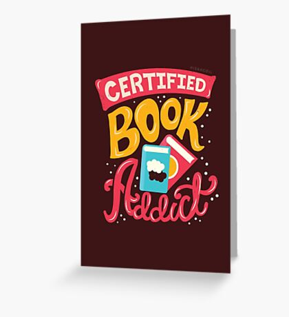 Certified Book Addict Greeting Card