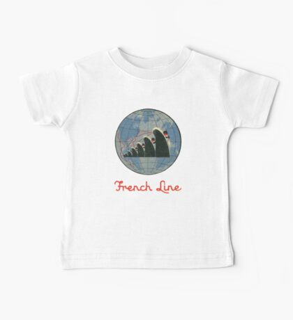 French Line Steamship Baby Tee