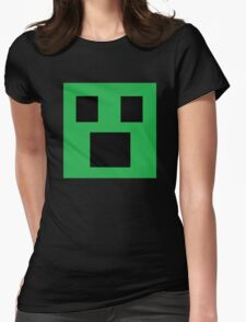 Surprised Face Emoji Womens Fitted T-Shirt