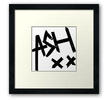 Ashton Irwin (Ash xx signature) Framed Print