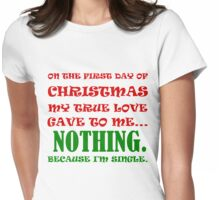 ON THE FIRST DAY OF CHRISTMAS Womens Fitted T-Shirt