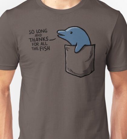 Dolphin in a Pocket Unisex T-Shirt