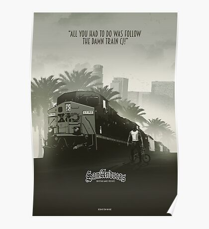 San Andreas styled Poster/ Tapestry / Clothing / Case Poster