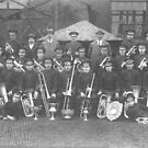 Frickley Colliery Brass Band, Yorkshire early 20th century by Dennis Melling