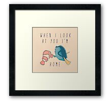Finding Nemo, Finding Home Framed Print