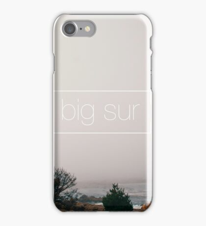 A misty day in Big Sur iPhone Case/Skin