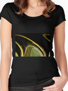 Wedge an abstract resembling a lemon wedge Women's Fitted Scoop T-Shirt