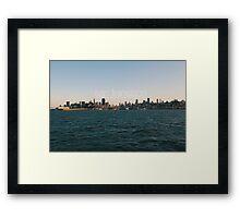 San Fransisco sunset skyline Framed Print