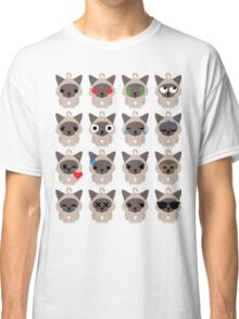 Birman Cat Emoji Different Facial Expression Classic T-Shirt