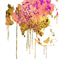 Asia by Watercolorsart