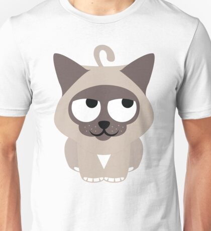 Birman Cat Emoji Thinking Hard and Hmm Face Unisex T-Shirt