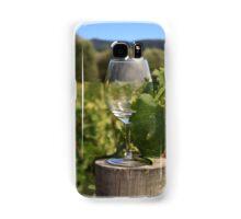 Wine glass on a log Samsung Galaxy Case/Skin