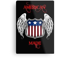 American Made (Black) Metal Print