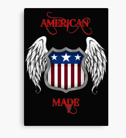 American Made (Black) Canvas Print