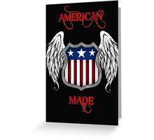 American Made (Black) Greeting Card
