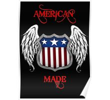 American Made (Black) Poster