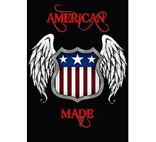 American Made (Black) Photographic Print
