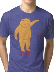 Skills Bear with Yoyo Tri-blend T-Shirt
