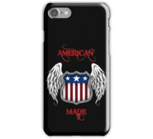 American Made (Black) iPhone Case/Skin
