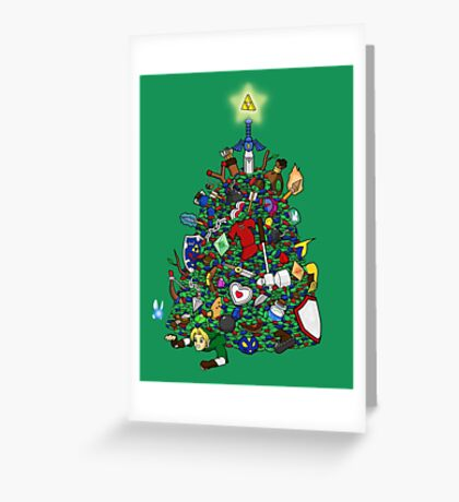 Link's Real Inventory (Christmas Edition) Greeting Card