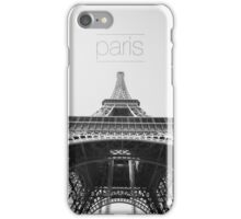 Black and white Eiffel Tower iPhone Case/Skin