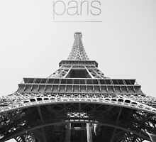 Black and white Eiffel Tower by nicklaslarka