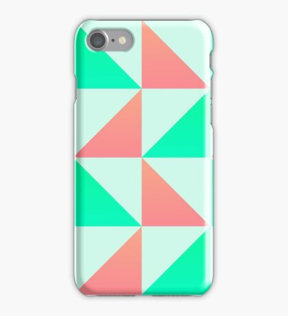 Triangles (Pink and Green) iPhone Case/Skin
