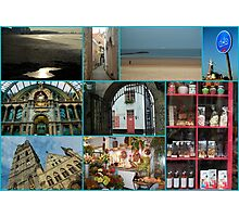 Collage from Belgium - Travel Photography Photographic Print