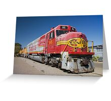 Santa Fe Train Greeting Card