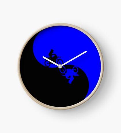 Motor Cross Yin Yang Clock