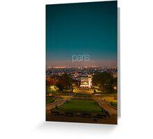 Paris - City of lights Greeting Card