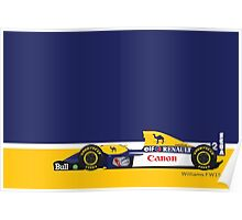 1993 Williams FW15C Formula 1 race car piloted by Alain Prost and Damon Hill Poster