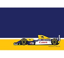 1993 Williams FW15C Formula 1 race car piloted by Alain Prost and Damon Hill Photographic Print