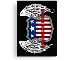 American Pride (Black) Canvas Print