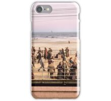Along the beach, Atlantic City, NJ 1905 Colorized iPhone Case/Skin