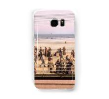 Along the beach, Atlantic City, NJ 1905 Colorized Samsung Galaxy Case/Skin
