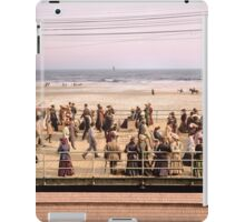 Along the beach, Atlantic City, NJ 1905 Colorized iPad Case/Skin