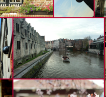Collage from Belgium 2 - Travel Photography Sticker