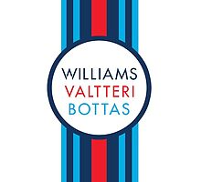Formula 1 Martini Racing Valtteri Bottas racing stripe by ApexFibers