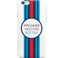 Formula 1 Martini Racing Valtteri Bottas racing stripe iPhone Case/Skin
