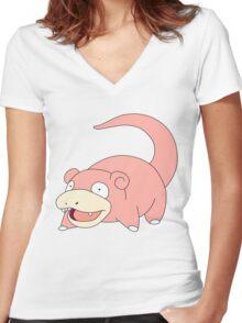 Slowpoke Women's Fitted V-Neck T-Shirt