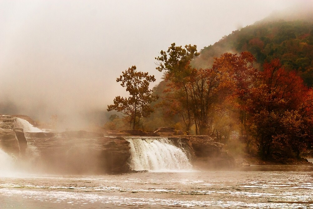 When the Morning Dawns on Kanawha Falls by Jeanne Sheridan